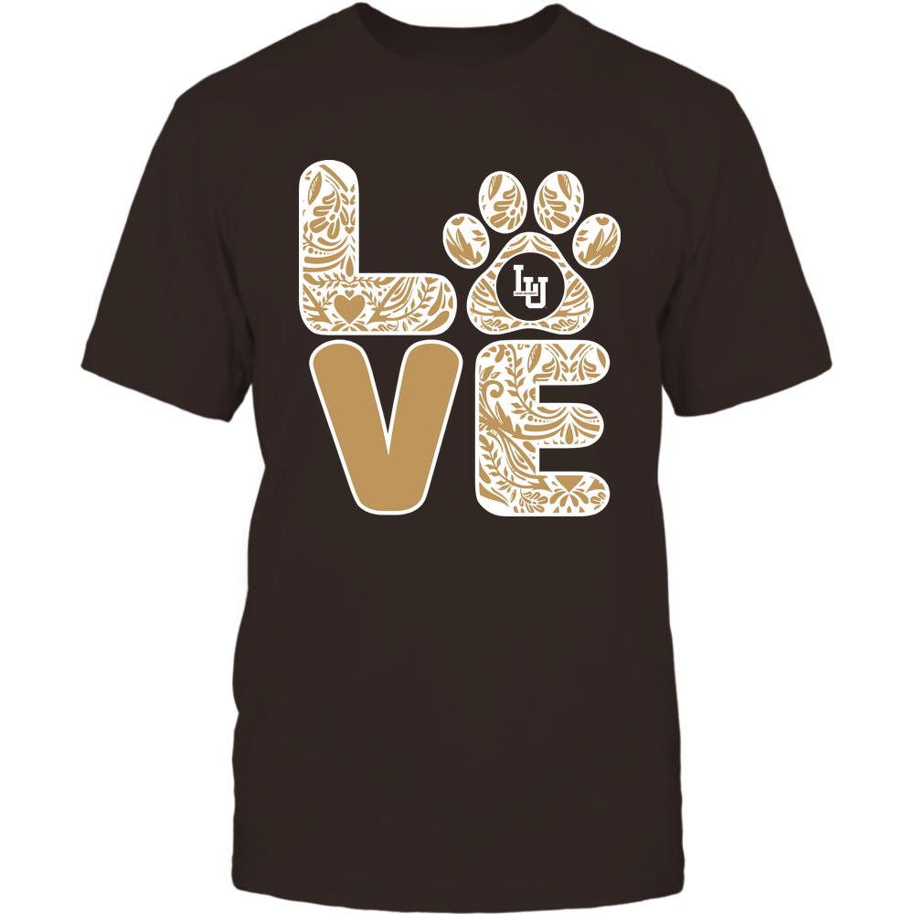 Lehigh Mountain Hawks - Stacked Paisley Love Paw - Team Front picture