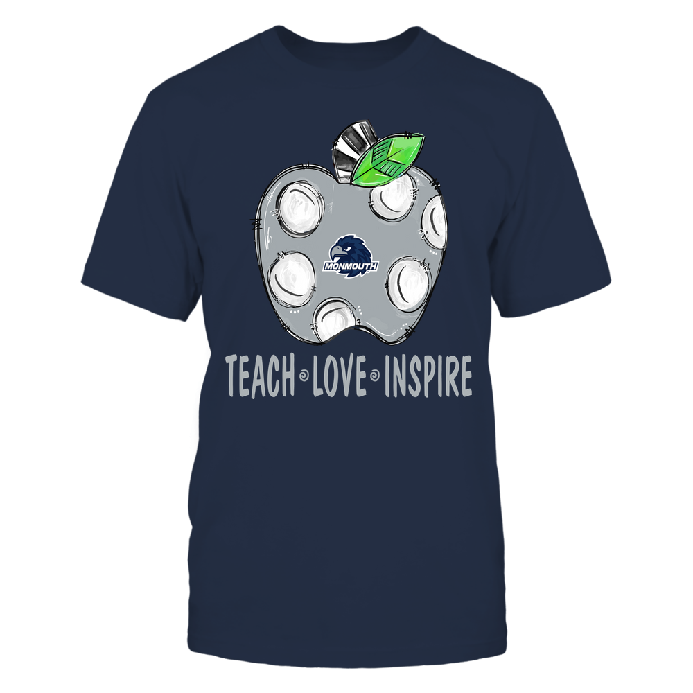 Monmouth Hawks - Teacher ^ Doodle Apple Teach Love Inspire ^ Team Front picture