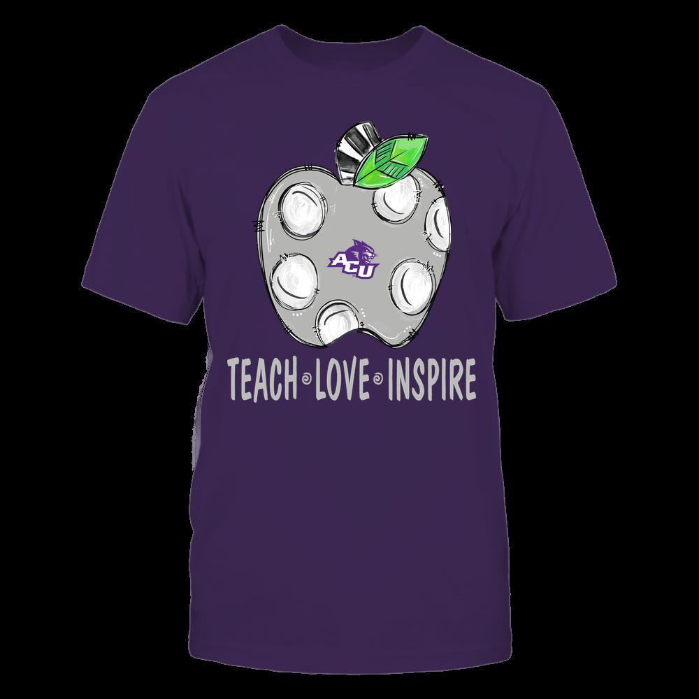 Abilene Christian Wildcats - Teacher ^ Doodle Apple Teach Love Inspire ^ Team Front picture
