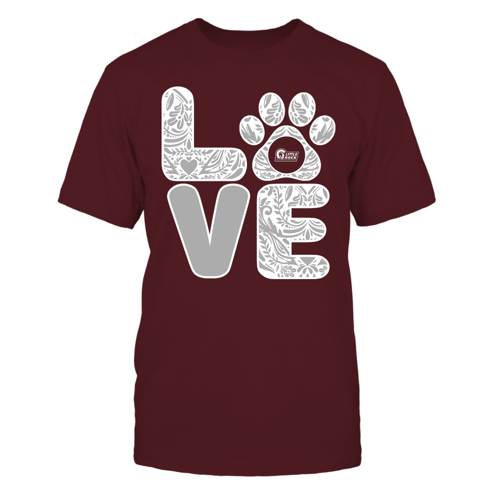 Arkansas Little Rock Trojans - Stacked Paisley Love Paw - Team Front picture