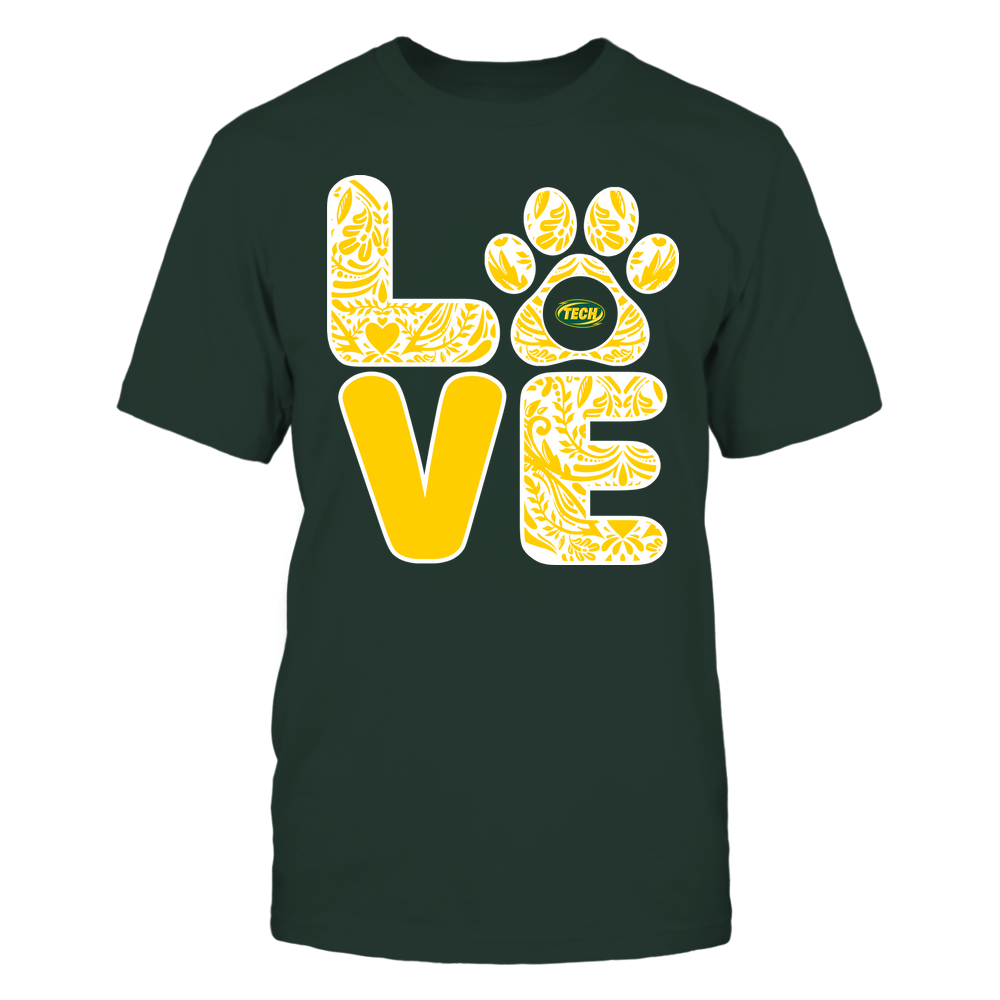 Arkansas Tech Golden Suns - Stacked Paisley Love Paw - Team Front picture