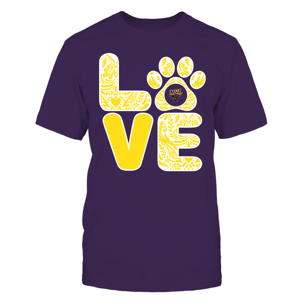 Minnesota State Mavericks - Stacked Paisley Love Paw - Team Front picture