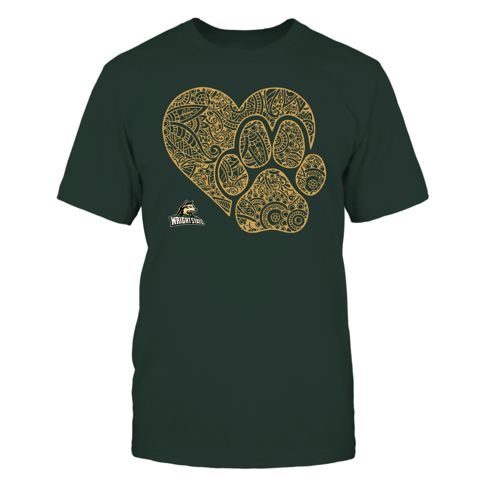 Wright State Raiders - Mandala Heart Paw - Team Front picture