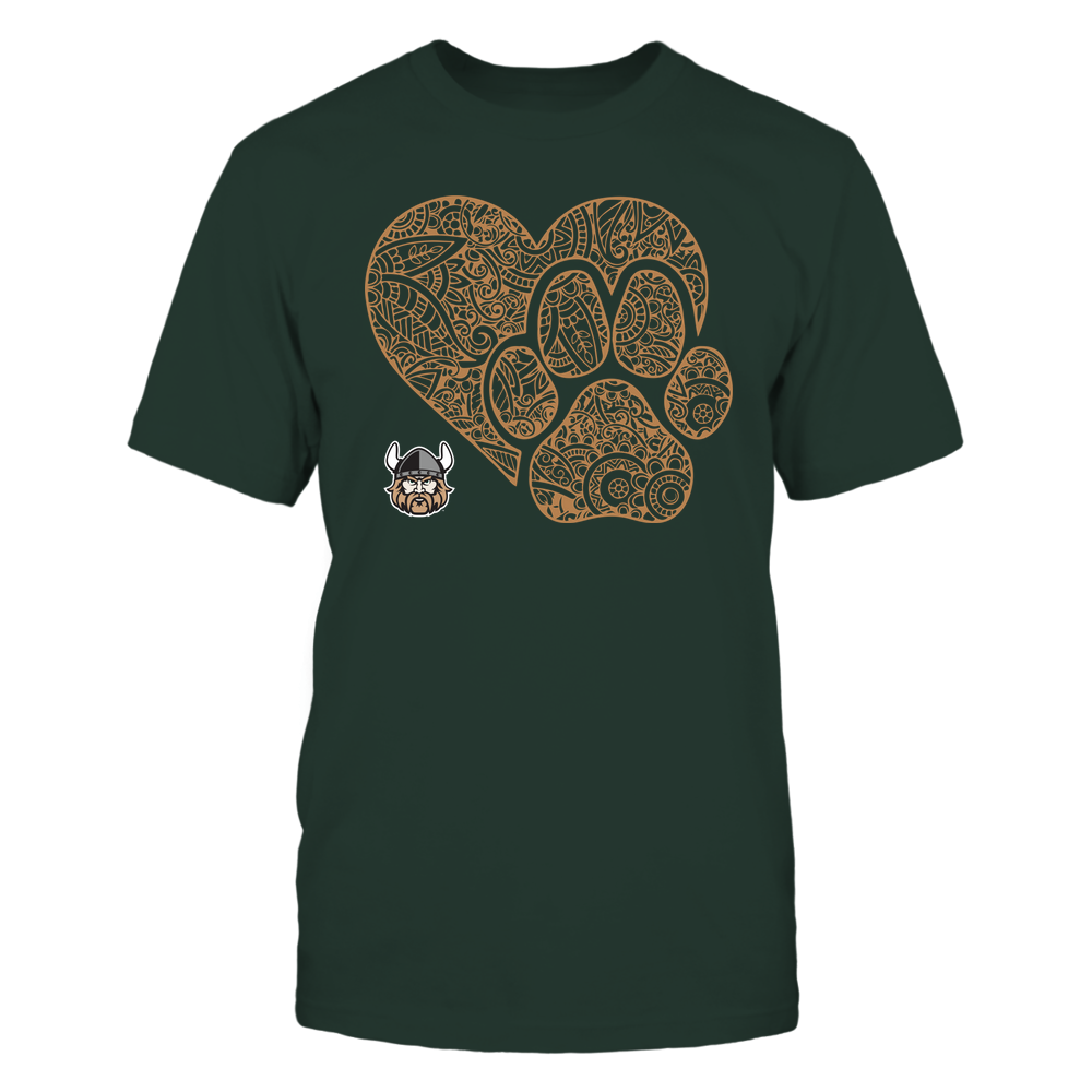 Cleveland State Vikings - Mandala Heart Paw - Team Front picture