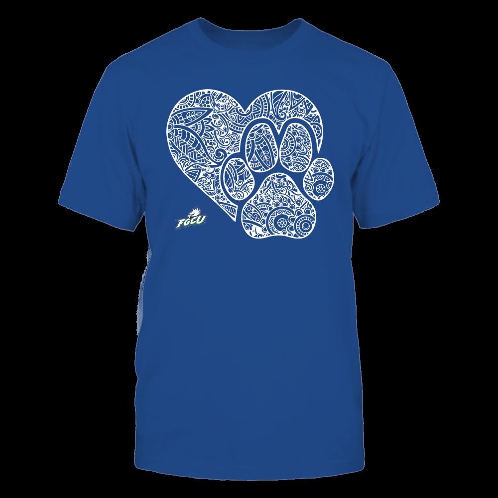 Florida Gulf Coast Eagles - Mandala Heart Paw - Team Front picture