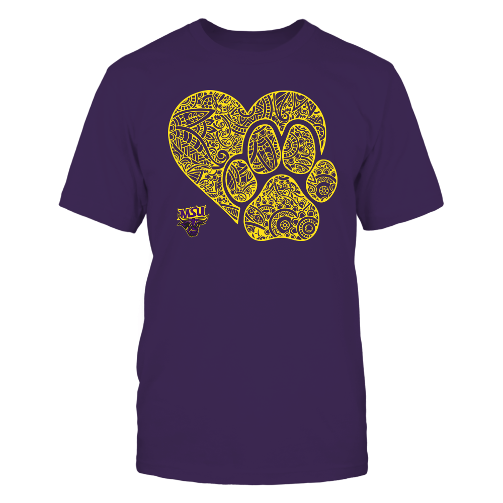Minnesota State Mavericks - Mandala Heart Paw - Team Front picture