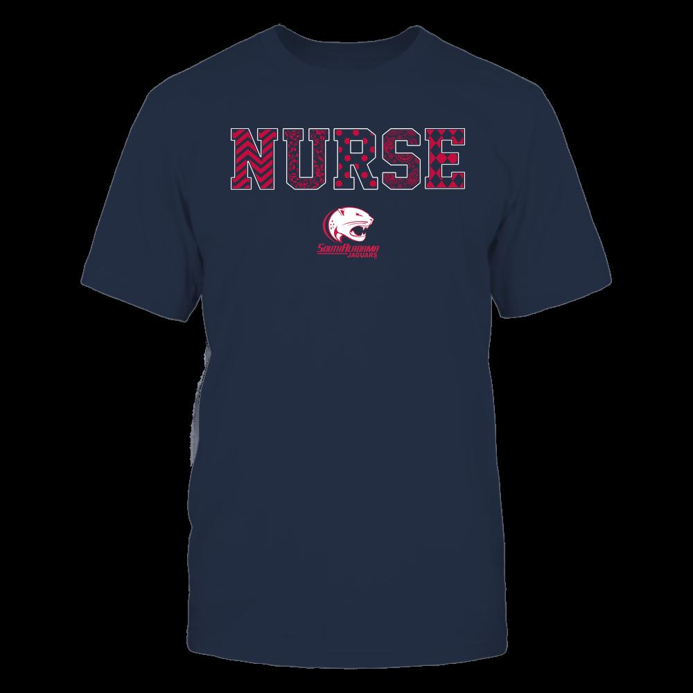 South Alabama Jaguars - Nurse - Patterned Slogan - Team Front picture