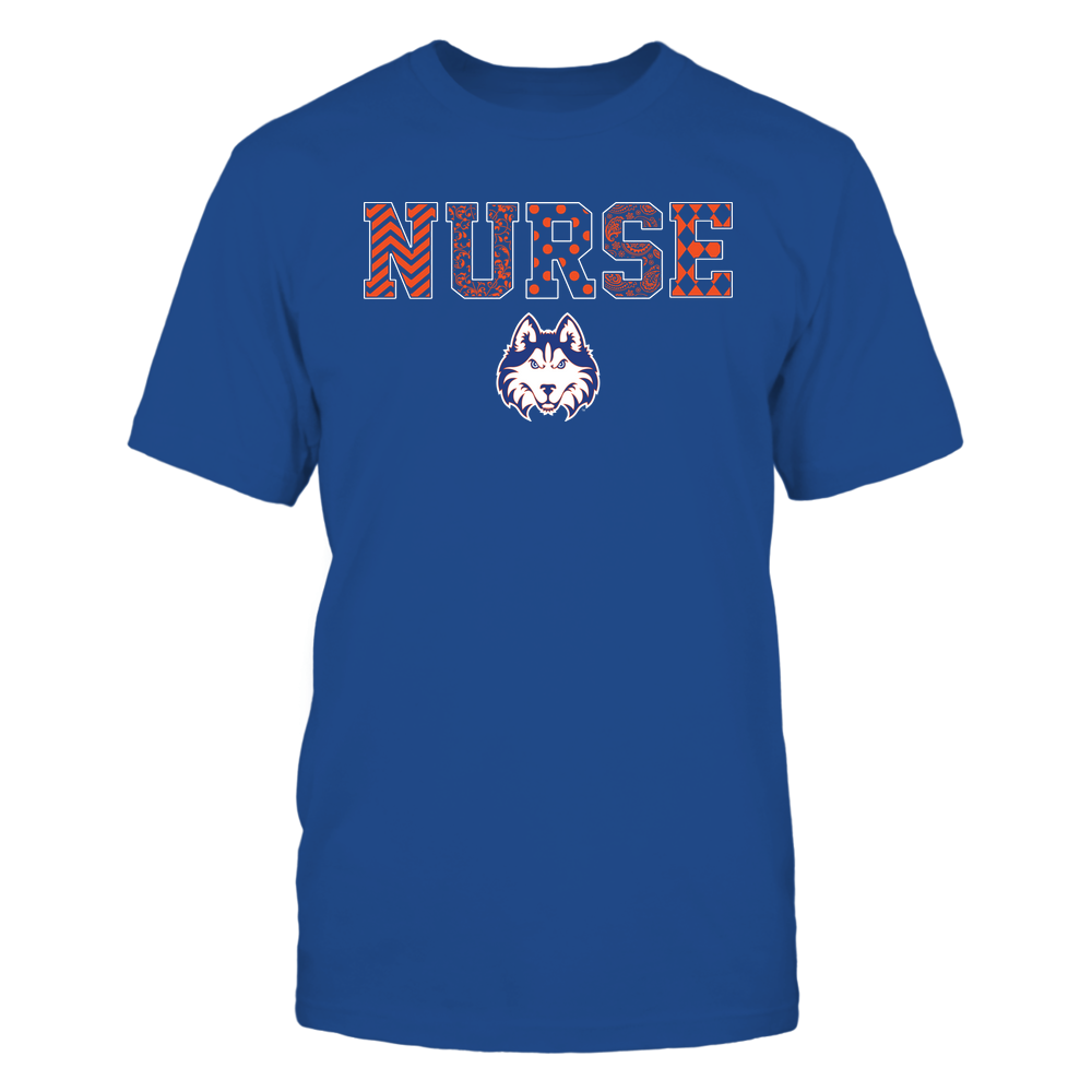 Houston Baptist Huskies - Nurse - Patterned Slogan - Team Front picture