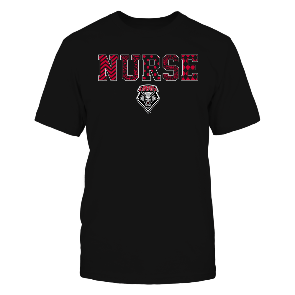 New Mexico Lobos - Nurse - Patterned Slogan - Team Front picture