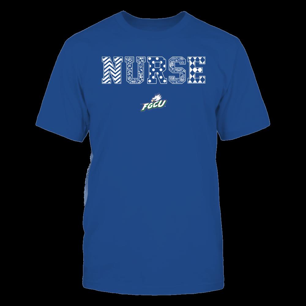 Florida Gulf Coast Eagles - Nurse - Patterned Slogan - Team Front picture