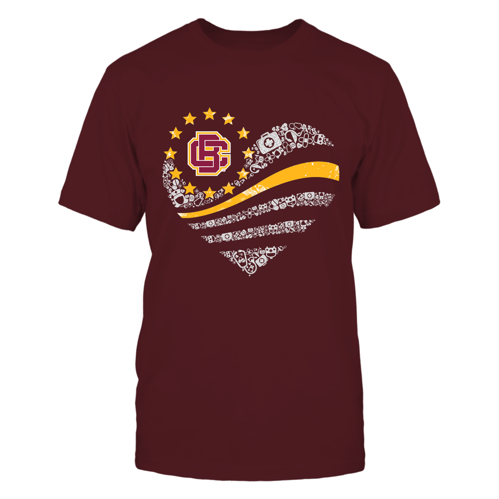Bethune-Cookman Wildcats - Nurse - Flag Heart Nurse Things - Team Front picture
