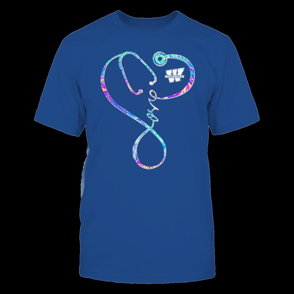 Washburn Ichabods - Nurse - Infinity Love Stethoscope Rainbow Swirl - Team Front picture