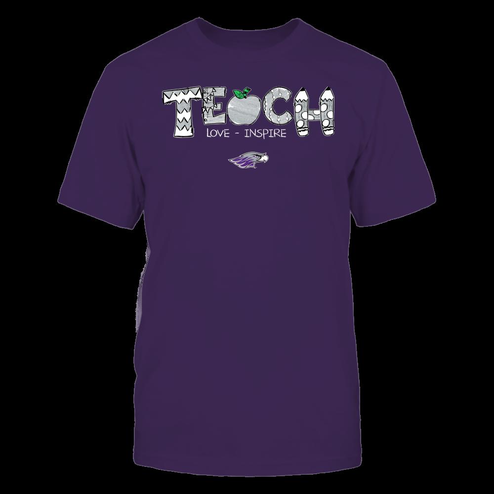 Wisconsin-Whitewater Warhawks - Teacher - Teach Love Inspire - Hand Drawn Front picture