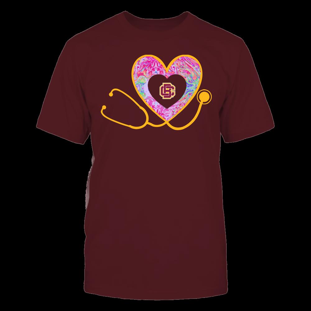 Bethune-Cookman Wildcats - Nurse - Heart Stethoscope - Rainbow Swirl Front picture