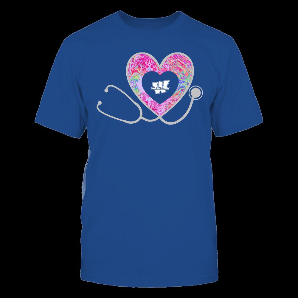 Washburn Ichabods - Nurse - Heart Stethoscope - Rainbow Swirl Front picture