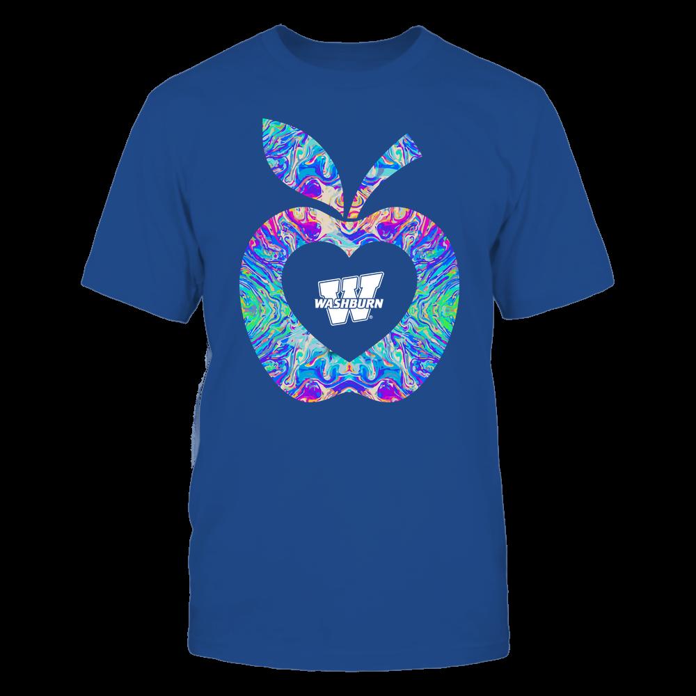 Washburn Ichabods - Teacher - Apple Rainbow - Team Front picture