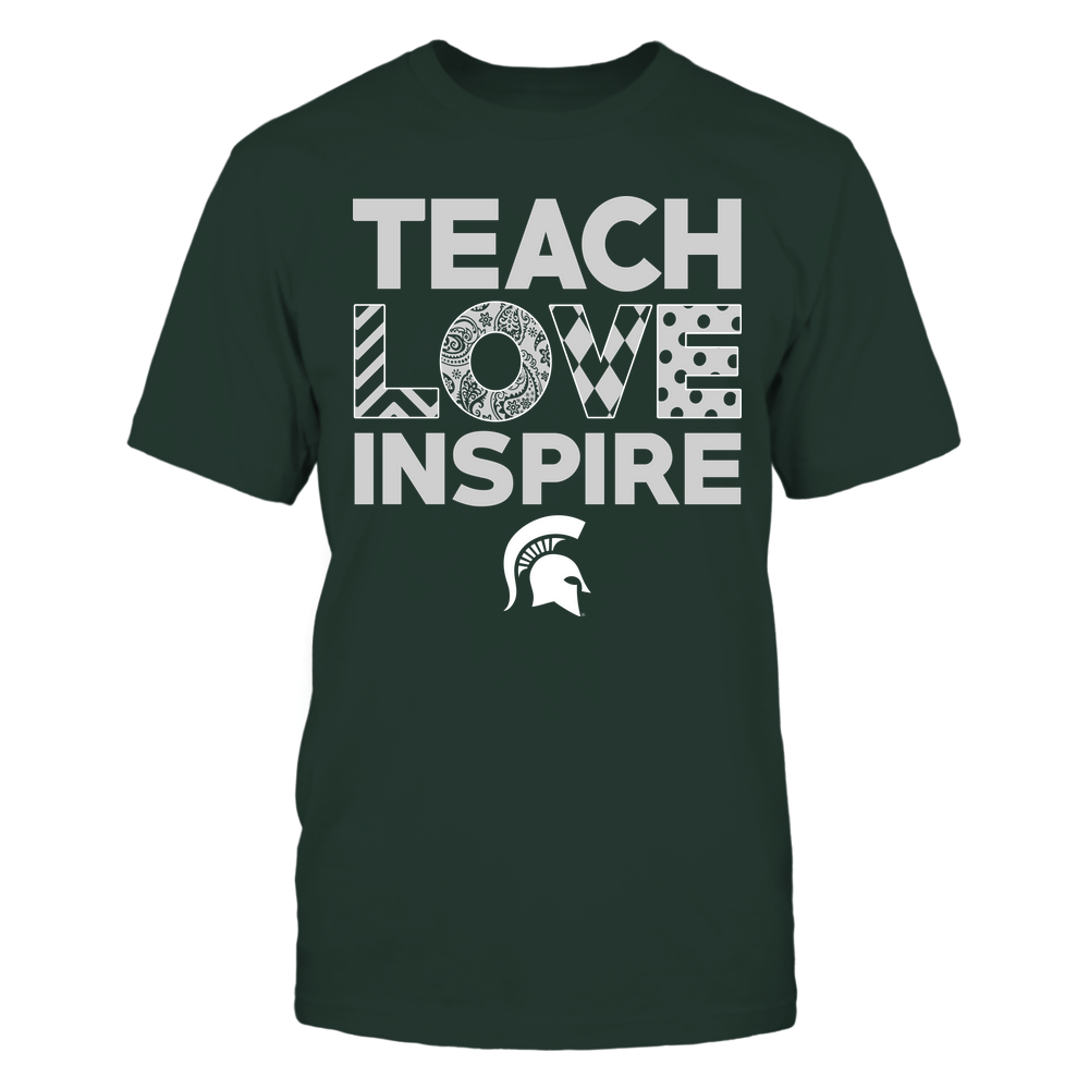 Michigan State Spartans - Teach Love Inspire - Love Pattern - Team Front picture