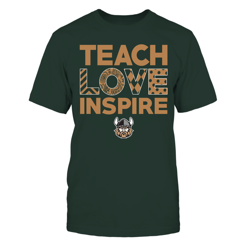 Cleveland State Vikings - Teach Love Inspire - Love Pattern - Team Front picture