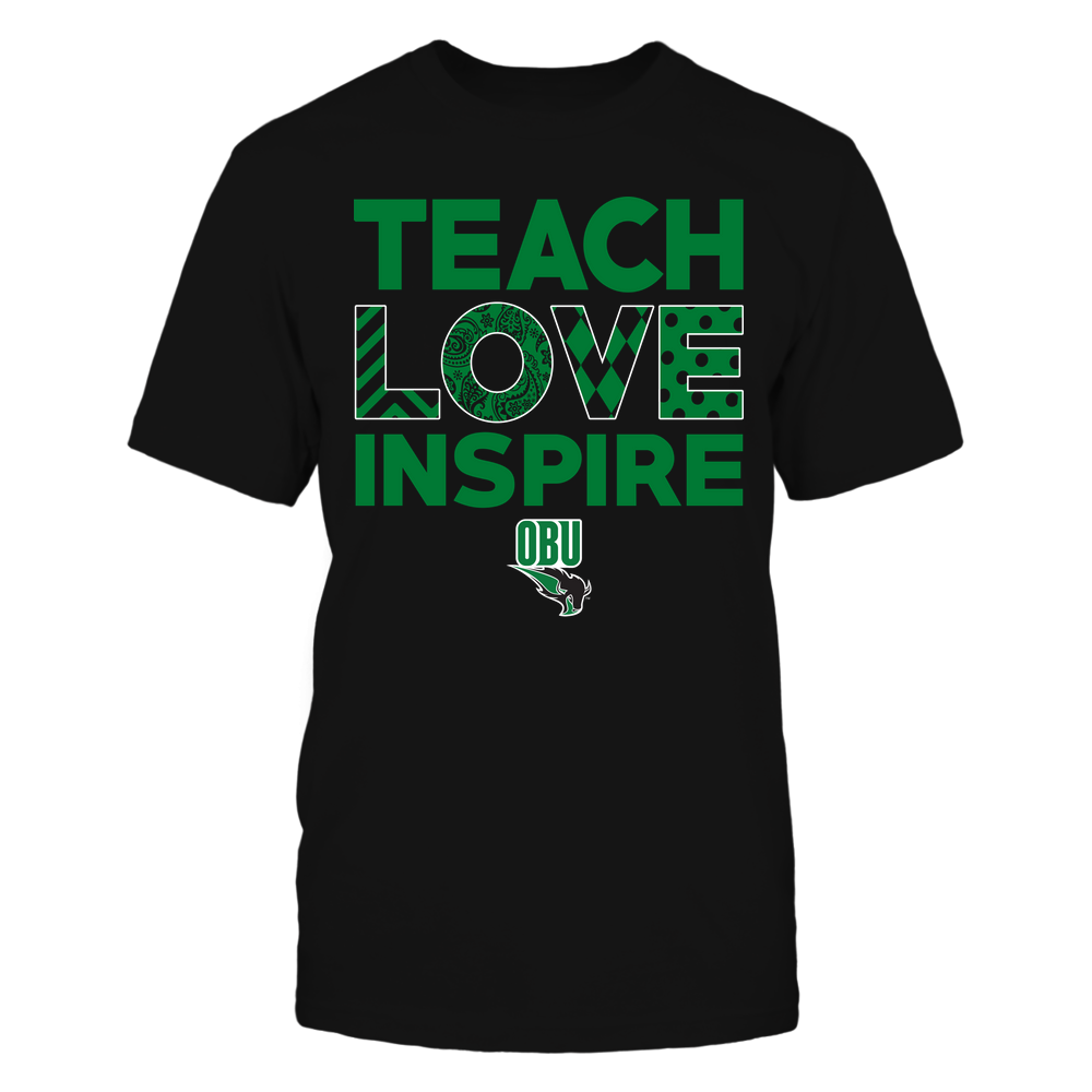 Oklahoma Baptist Bison - Teach Love Inspire - Love Pattern - Team Front picture