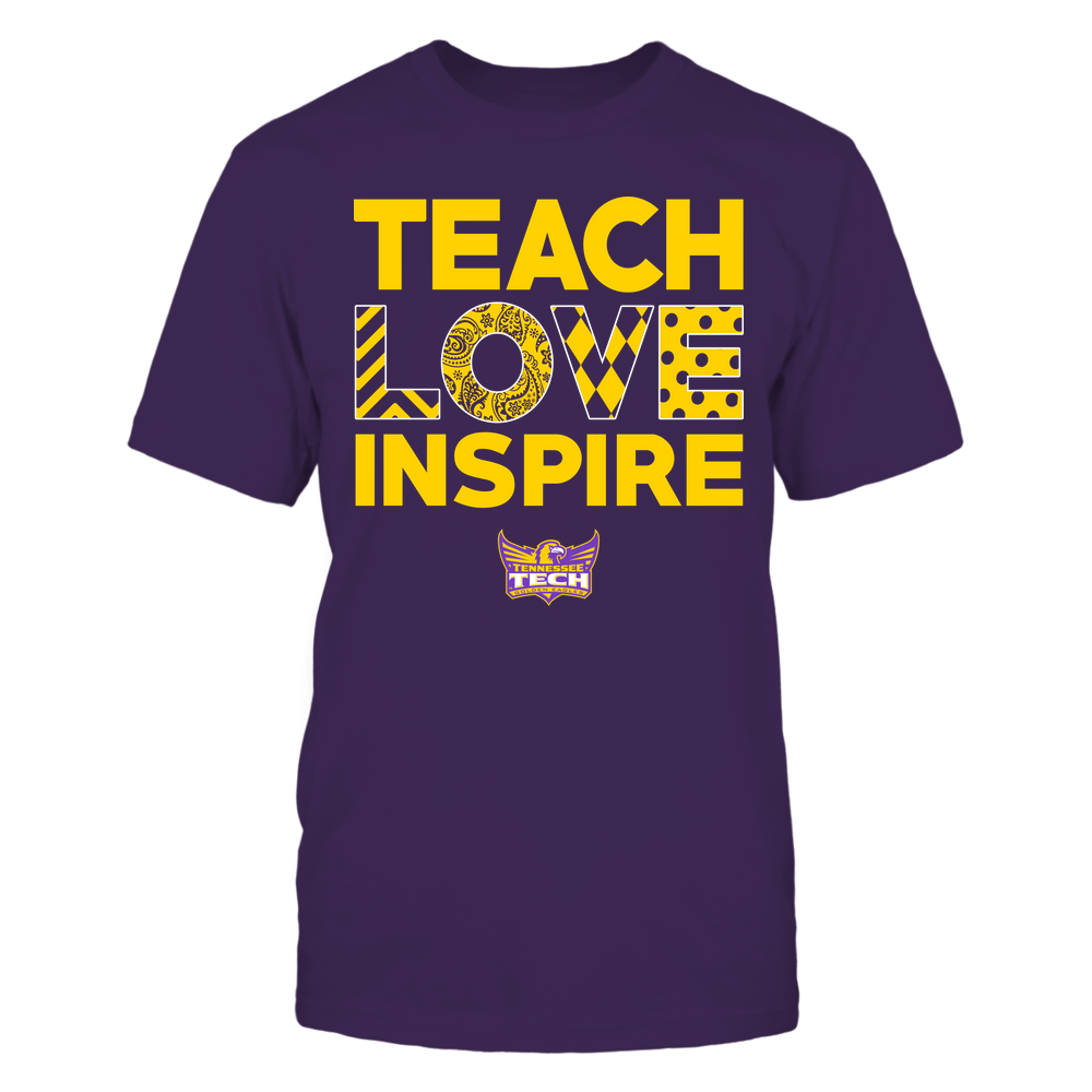 Tennessee Tech Golden Eagles - Teach Love Inspire - Love Pattern - Team Front picture