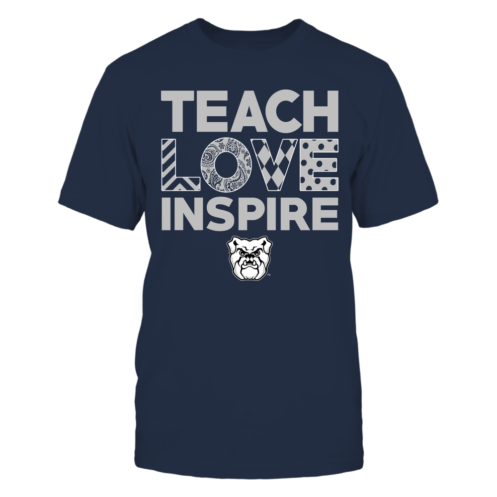 Butler Bulldogs - Teach Love Inspire - Love Pattern - Team Front picture