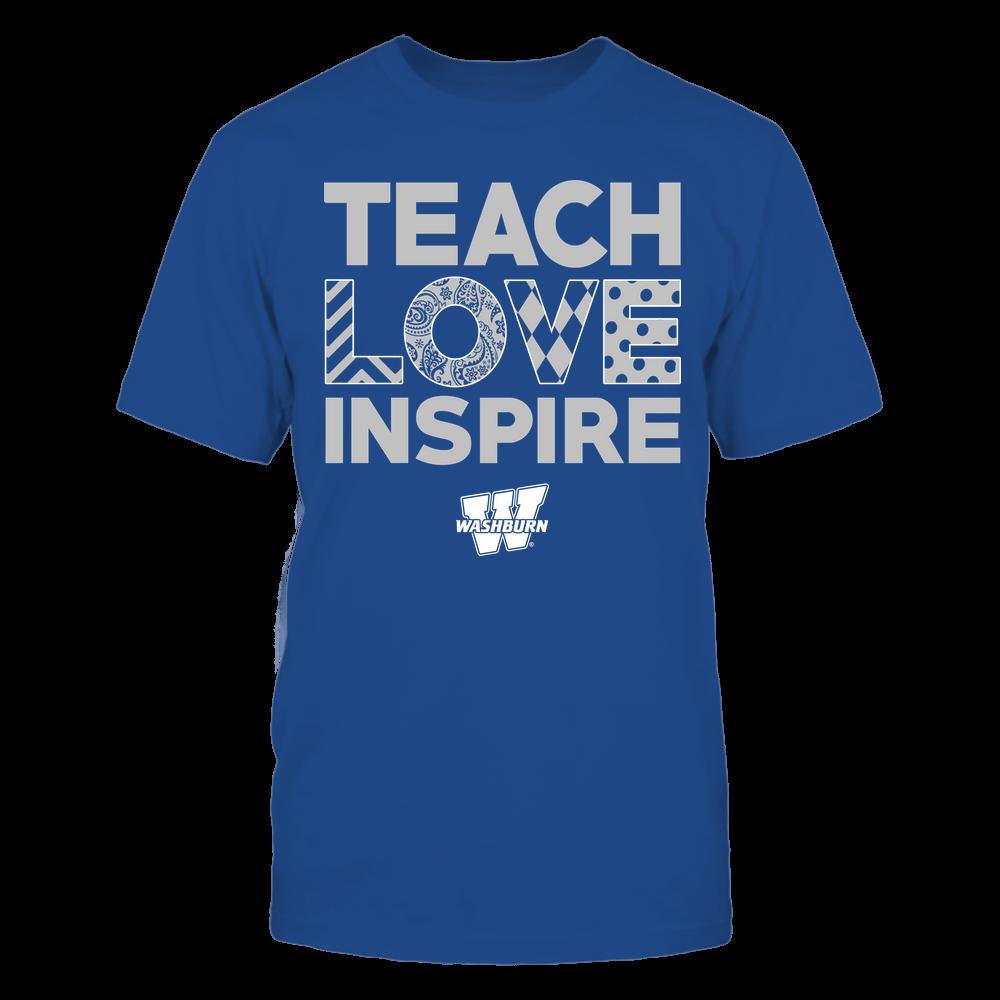Washburn Ichabods - Teach Love Inspire - Love Pattern - Team Front picture