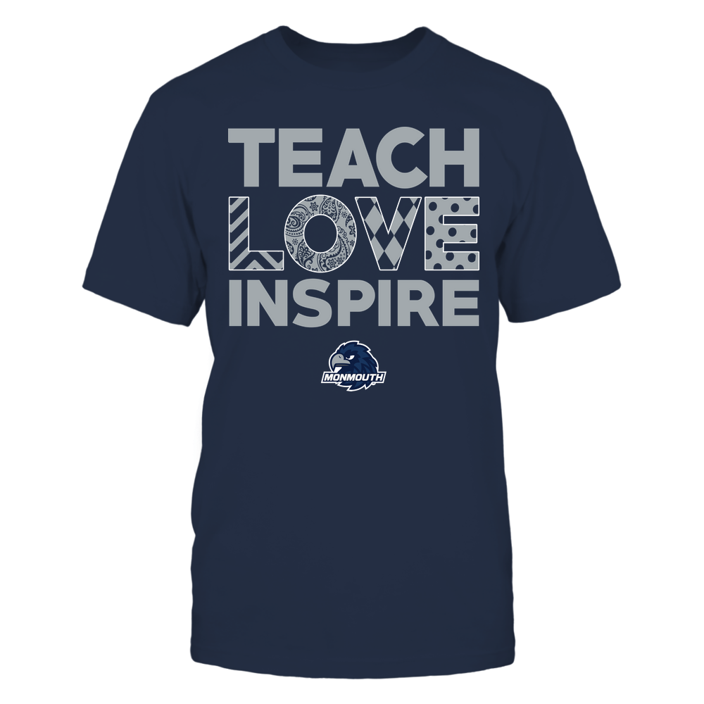 Monmouth Hawks - Teach Love Inspire - Love Pattern - Team Front picture