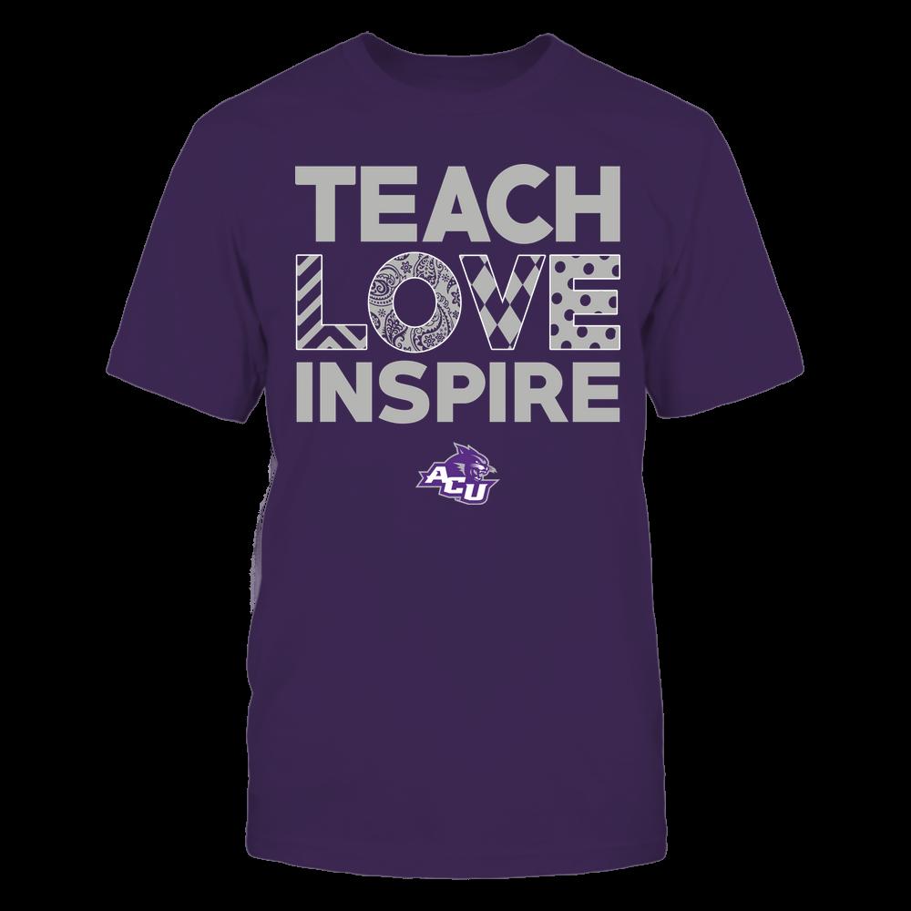 Abilene Christian Wildcats - Teach Love Inspire - Love Pattern - Team Front picture
