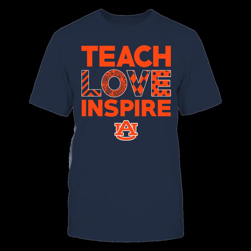 Auburn Tigers - Teach Love Inspire - Love Pattern - Team Front picture