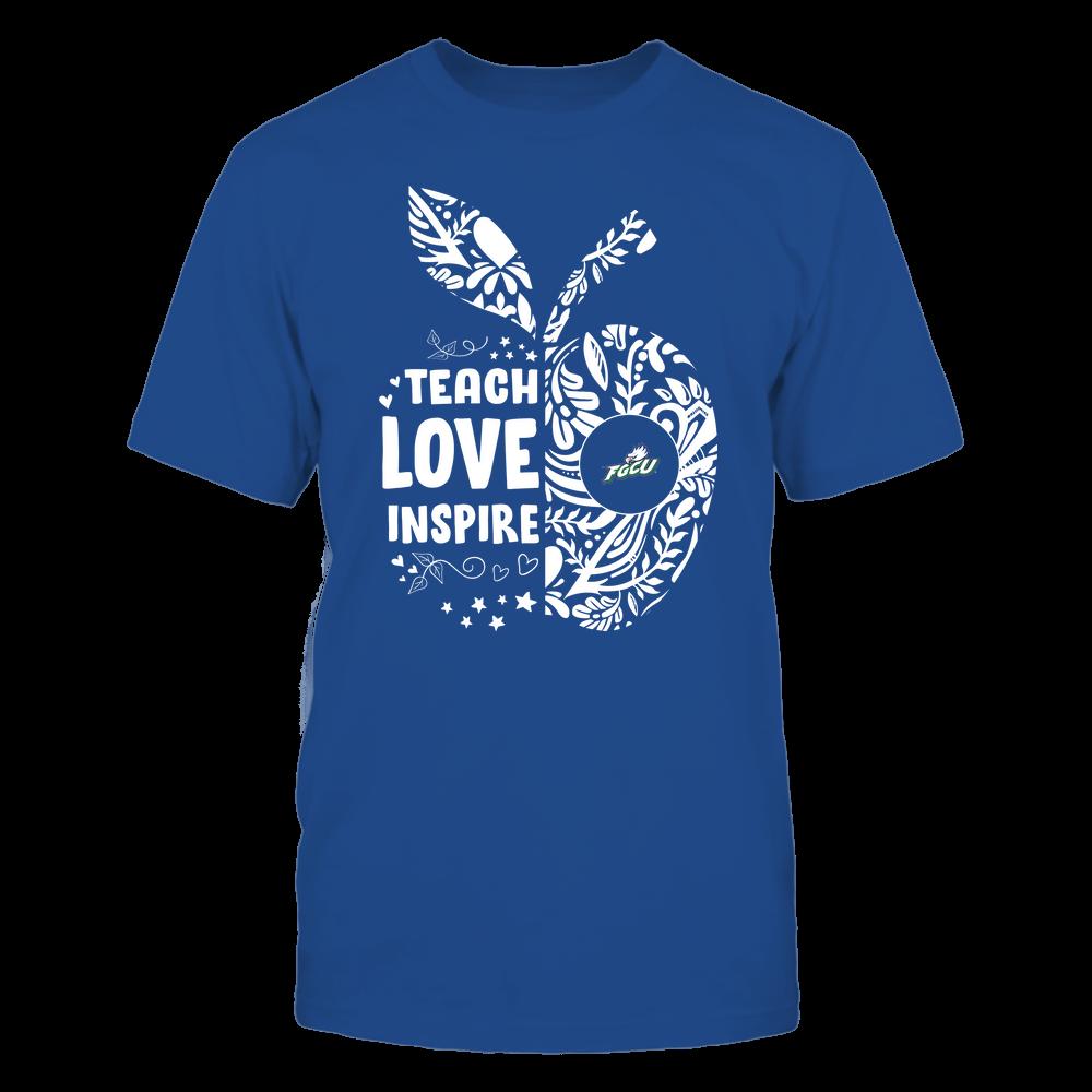 Florida Gulf Coast Eagles - Teacher - Teach Love Inspire Lace Pattern Half Apple - Team Front picture