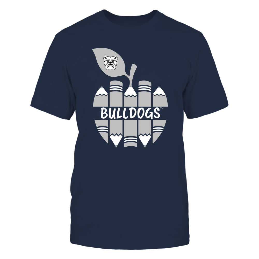 Butler Bulldogs - Teacher - Apple By Pencil - Mascot - Team Front picture