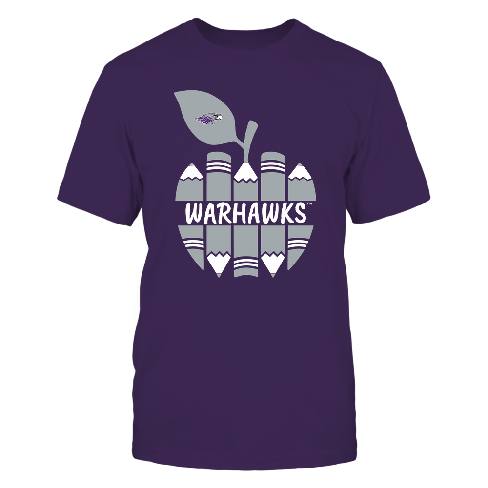 Wisconsin-Whitewater Warhawks - Teacher - Apple By Pencil - Mascot - Team Front picture