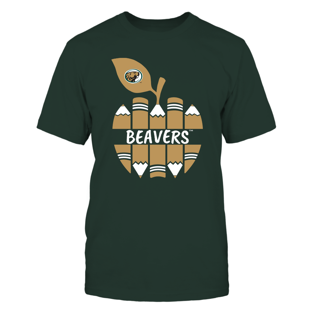 Bemidji State Beavers - Teacher - Apple By Pencil - Mascot - Team Front picture
