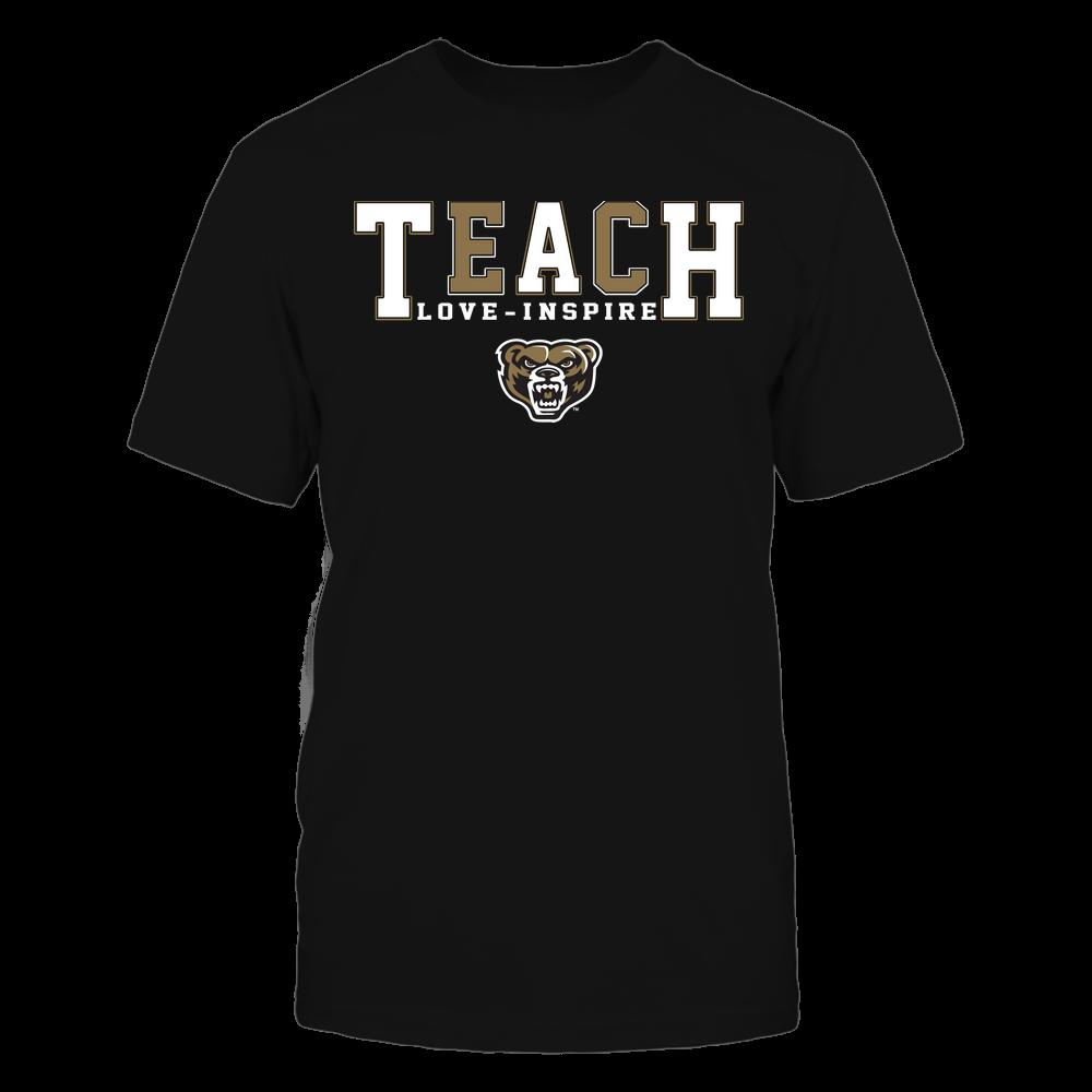 Oakland Golden Grizzlies - Teacher - Teach Love Inspire - Colorblock Front picture