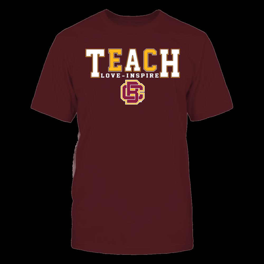 Bethune-Cookman Wildcats - Teacher - Teach Love Inspire - Colorblock Front picture
