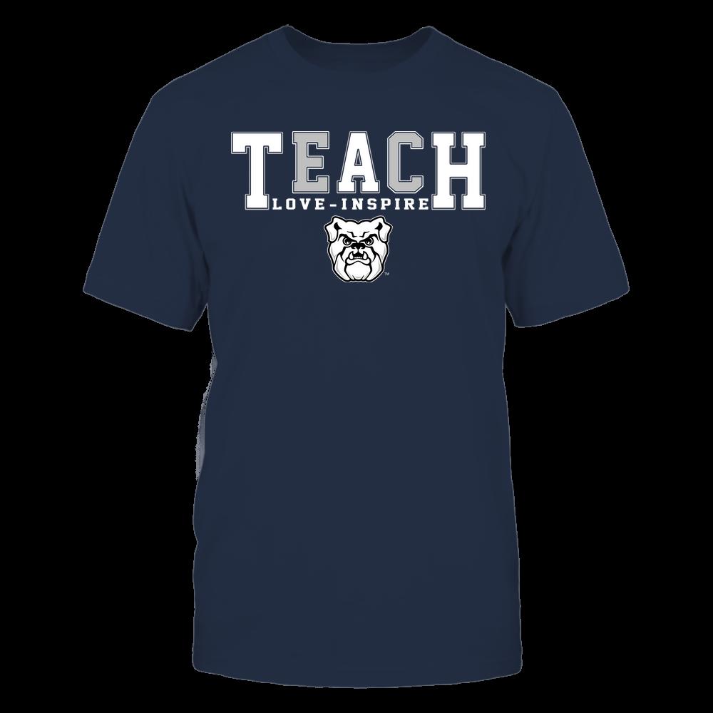 Butler Bulldogs - Teacher - Teach Love Inspire - Colorblock Front picture
