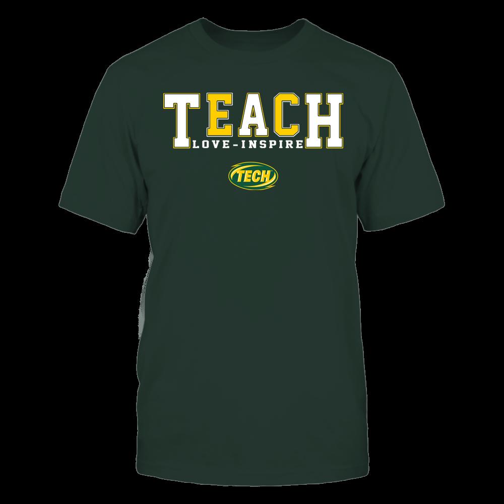 Arkansas Tech Golden Suns - Teacher - Teach Love Inspire - Colorblock Front picture