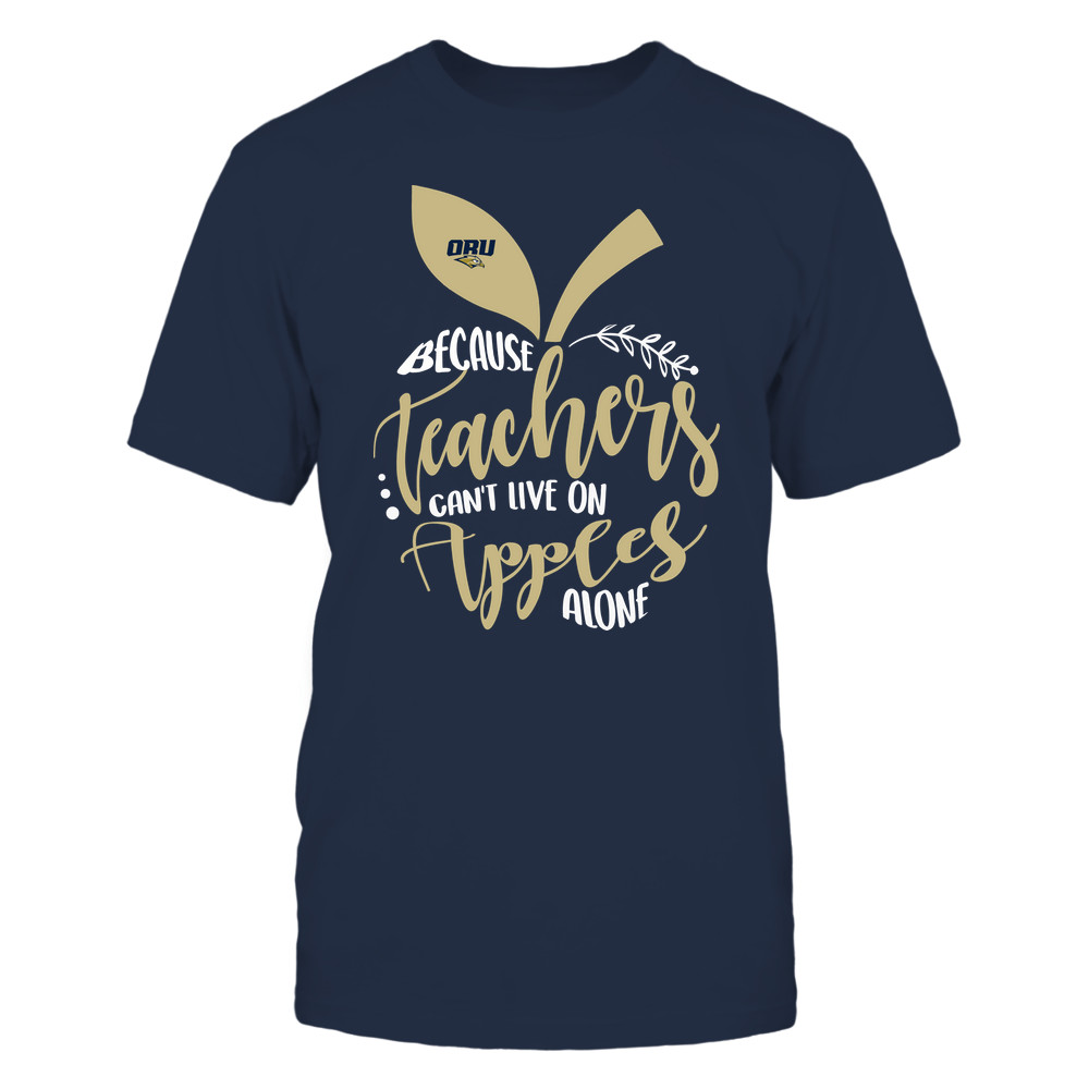 Oral Roberts Golden Eagles - Teacher ^ Because Teachers Can Not Live On Apples Alone ^ Apple Shape Front picture