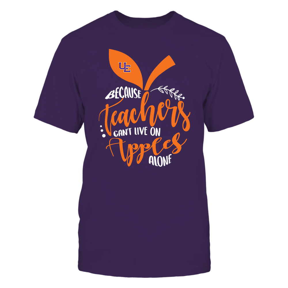 Evansville Purple Aces - Teacher ^ Because Teachers Can Not Live On Apples Alone ^ Apple Shape Front picture
