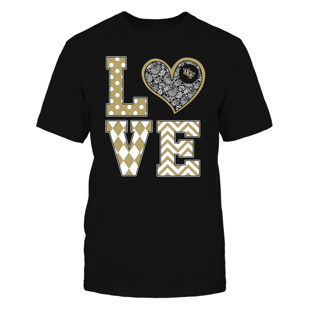 UCF Knights - Stacked Love Patterned - Heart Paisley - Team Front picture