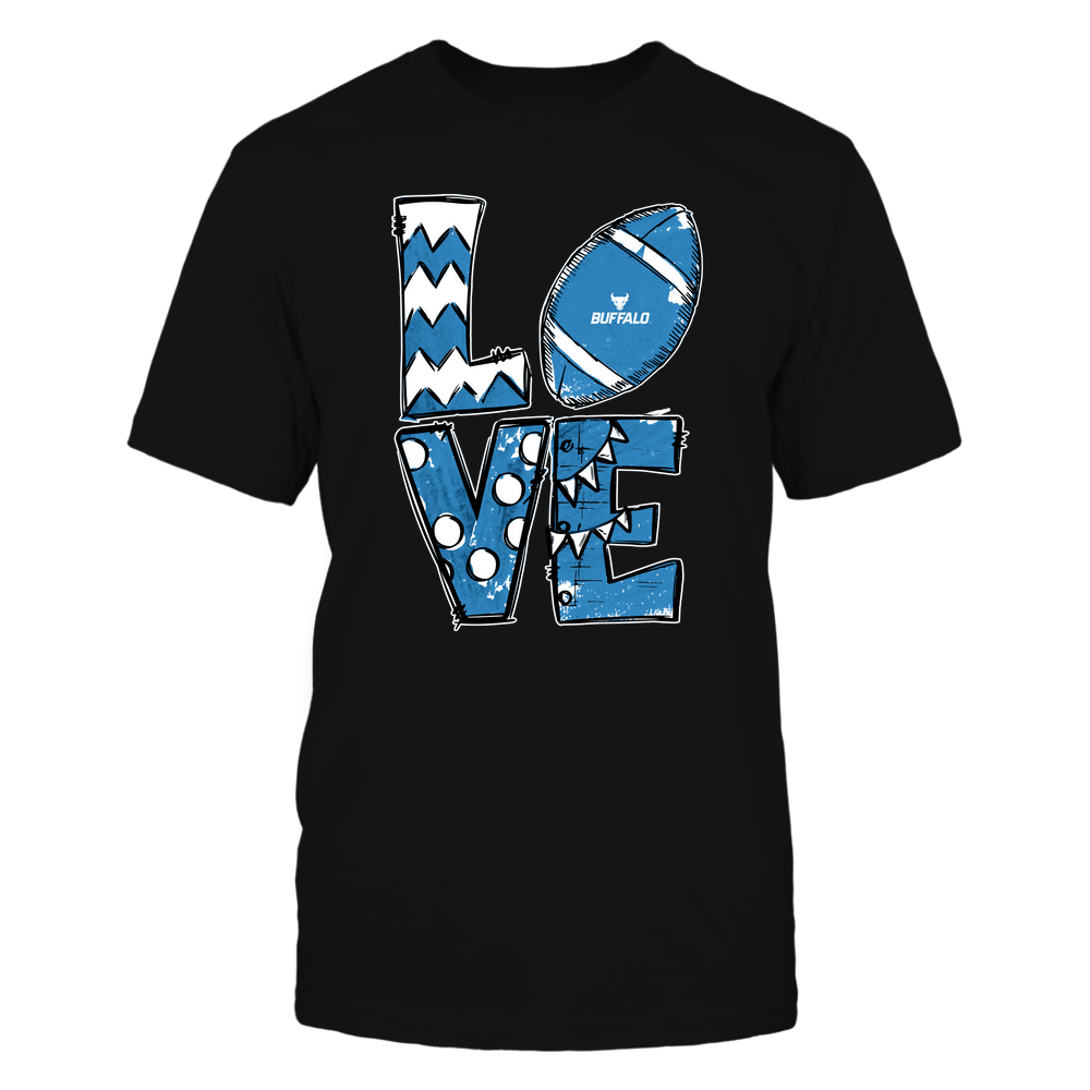 Buffalo Bulls - Football - Stacked Love Football - Hand Drawn Front picture