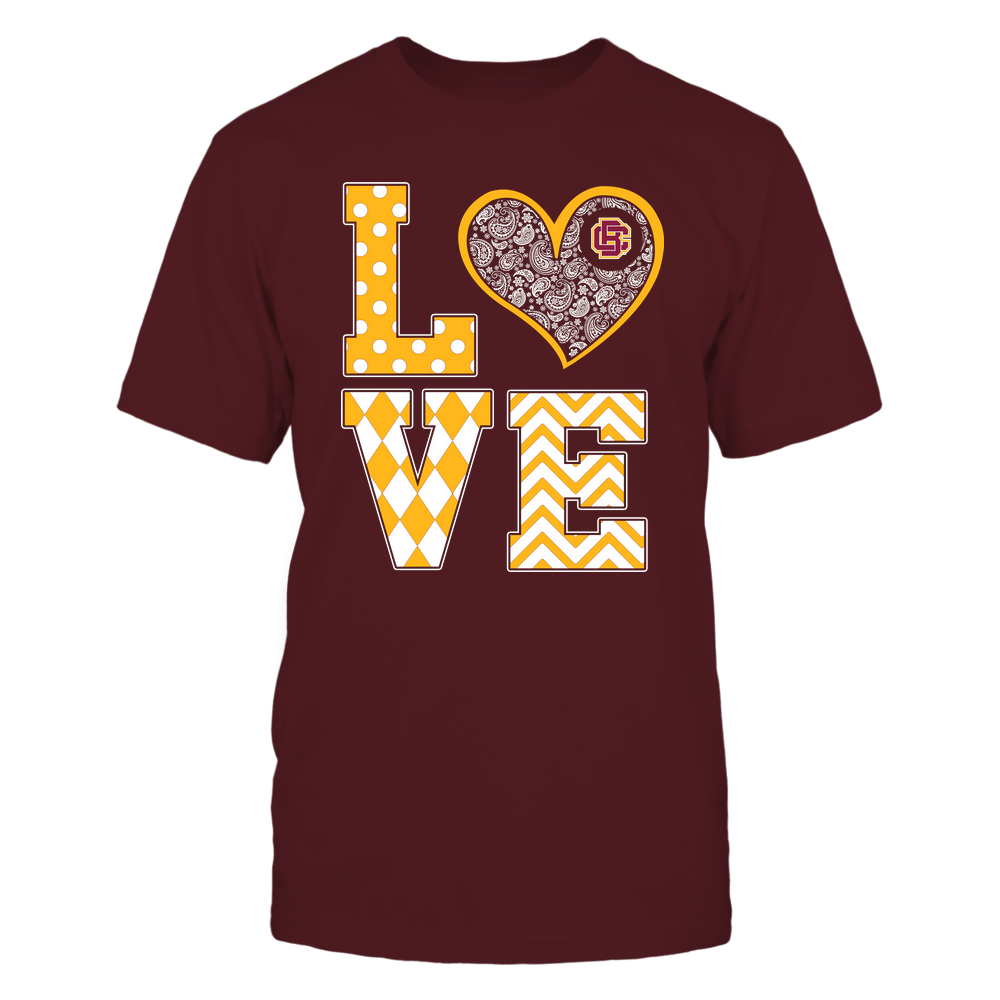 Bethune-Cookman Wildcats - Stacked Love Patterned - Heart Paisley - Team Front picture