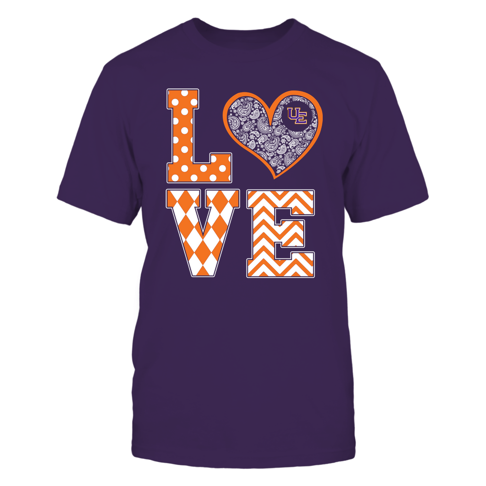 Evansville Purple Aces - Stacked Love Patterned - Heart Paisley - Team Front picture
