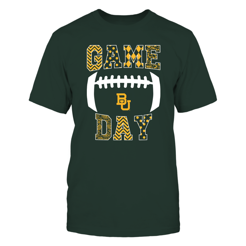 Baylor Bears - Football - Game Day - Patterned Football Outline Front picture