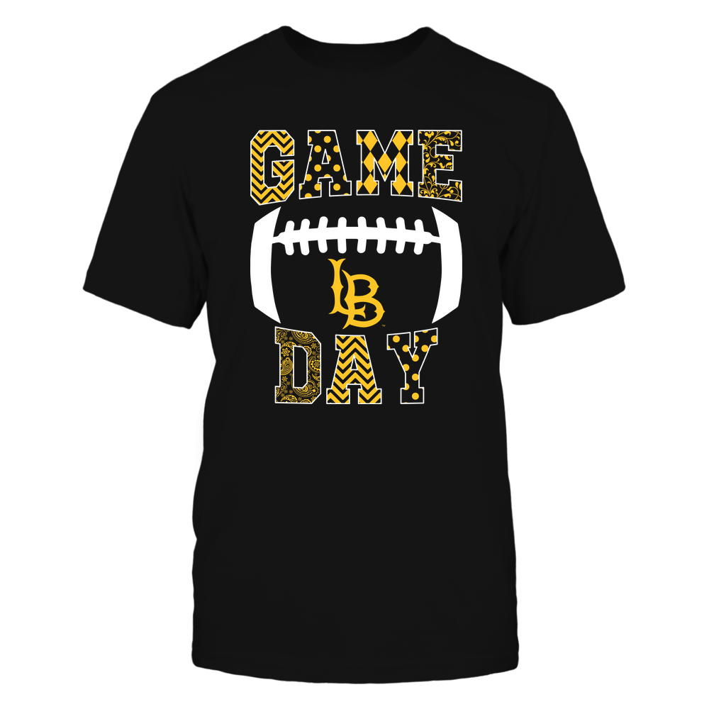 Long Beach State 49ers - Football - Game Day - Patterned Football Outline Front picture