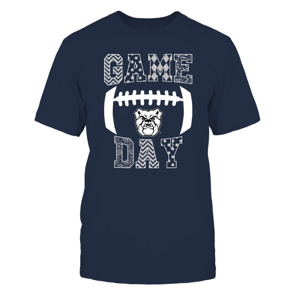 Butler Bulldogs - Football - Game Day - Patterned Football Outline Front picture