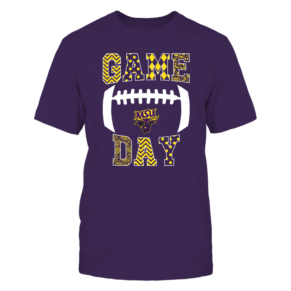 Minnesota State Mavericks - Football - Game Day - Patterned Football Outline Front picture