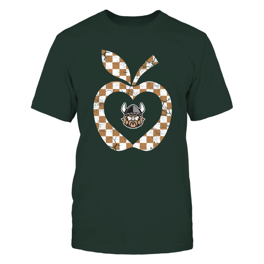 Cleveland State Vikings - Teacher - Checkerboard Pattern Apple - Team Front picture