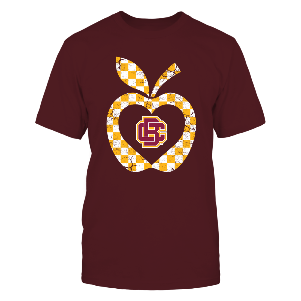 Bethune-Cookman Wildcats - Teacher - Checkerboard Pattern Apple - Team Front picture