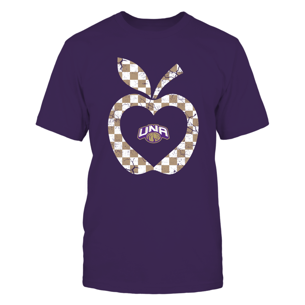 North Alabama Lions - Teacher - Checkerboard Pattern Apple - Team Front picture